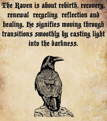 Raven Spirit bird clip art png file Digital by DigitalGraphicsShop, $2.50