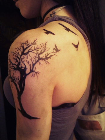 60 Awesome Tree Tattoo Designs « Cuded – Showcase of Art & Design