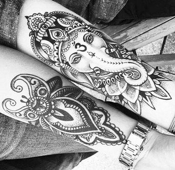 Ganesh tattoo. These would be gorgeous on shins!
