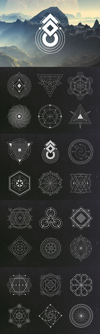 24 Sacred Geometry Vectors