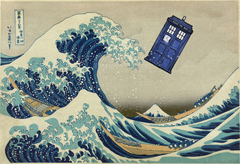 The Great Wave Doctor Who Art Print by Dan Lebrun | Society6