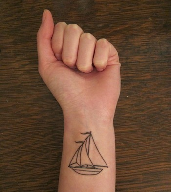 Sailing Boat Tattoo Designs | Tattoos Pictures