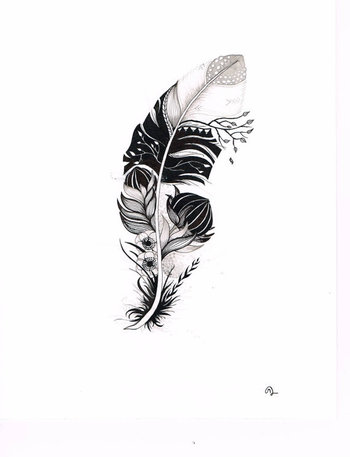 Original India Ink drawing or tattoo design by SlowDesigns on Etsy. Id add a protea in pink and maybe