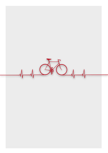 Bike Beat Stretched Canvas by Emma J Hardy | Society6