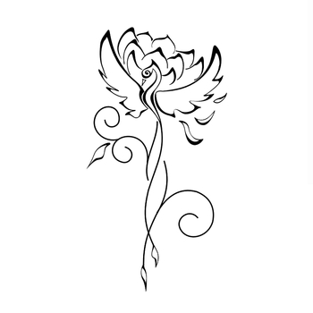 Phoenix with a lotus tattoo. Great concept!! A lotus grows from deep mud. The deeper the mud the bigg