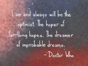 Doctor Who Quote on Canvas Hand Painted 16x20 by Mae2Designs, $40.00