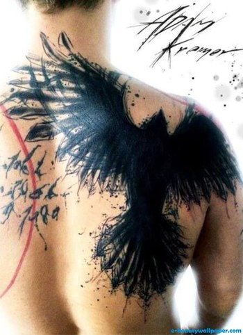 Black Crow Tattooed This Splatter Silhouette Adam Kremer Copy | Best Hd Wallpaper For Inspiring Design