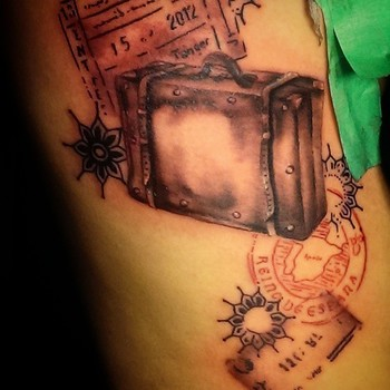 suitcase tattoo - Google Search