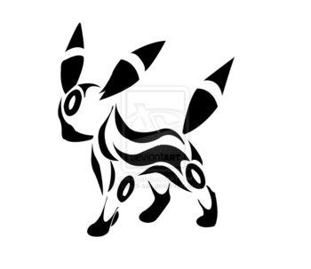 Tribal Umbreon by maddi-san on deviantART
