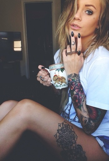 I like the sleeve & thigh combo, but I think I'd want mine a little bigger, so it would wrap around t
