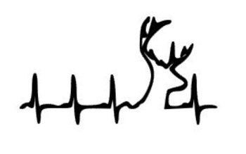 country deer, deer heartbeat, hunting car decal, vinyl browning decal, vinyl laptop decal, cell phone