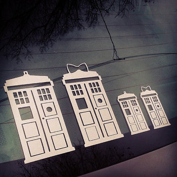TARDIS Family Doctor Who Car Decal Sticker by TurboNerd on Etsy, $8.00