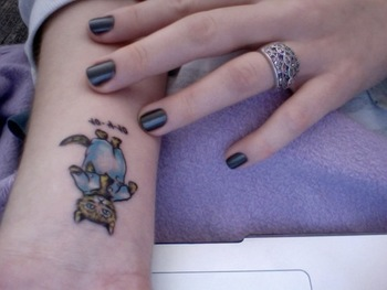 Beatrix Potter's art of Tom Kitten, as a tattoo!