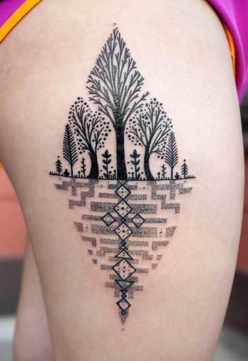 40 Achingly Beautiful Tree Tattoos - TATTOOBLEND