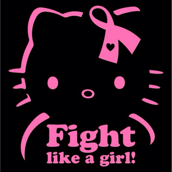 Hello Kitty breast cancer awareness