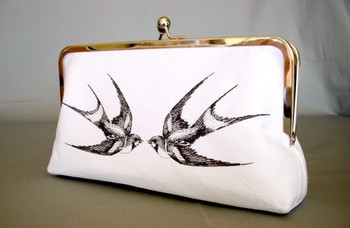 Swallow Tattoo Clutch Large