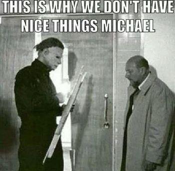 Michael Myers humor! Loll | Maduros | Pinterest