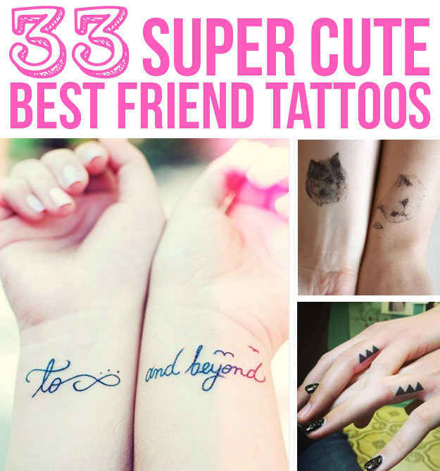 33 super cute best friend tattoos original