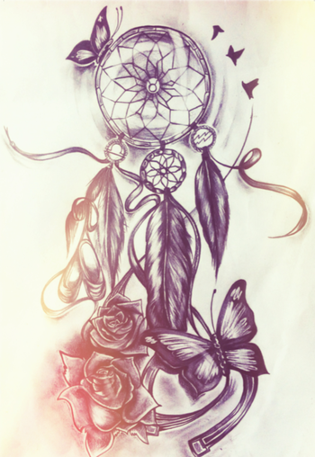 Beautiful... Absolutely in awe of this! Always wanted a dream catcher tattoo and I think this is the one.