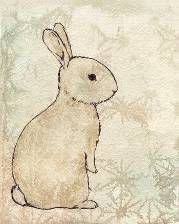 Vintage Bunny Fine Art Reproduction