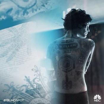"Blindspot on Instagram: ""Every tattoo has a story. What's yours? #Blindspot #NationalTattooDay #Regram: @jaimiealexander"""