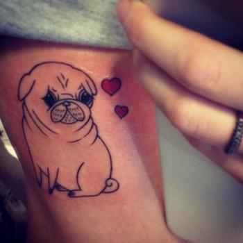 Pug Tattoo // original art by Gemma Correll