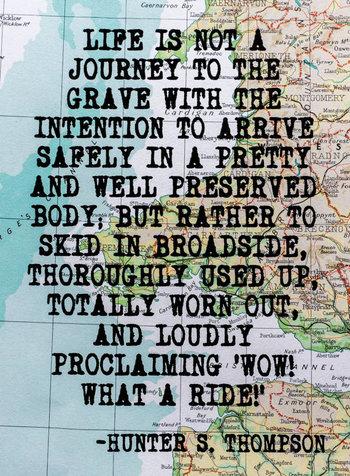 Hunter S. Thompson Inspirational Travel by walltowallprintshop