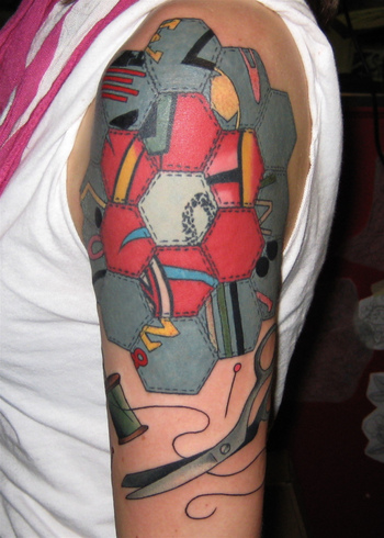 Quilting the town red: Quilt Tattoos - I didn't know it existed!