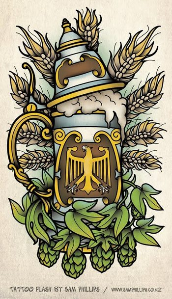 Sams Blog: German Beer Stein Tattoo