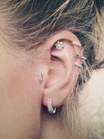EAR BLING | Studded Hearts