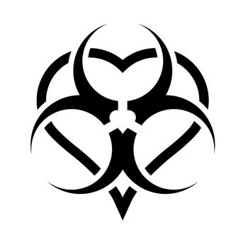 MyParasites logo biohazard heart toxic love by myparasites.deviantart.com
