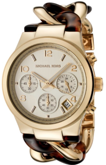 pretty Michael Kors gold and brown watch