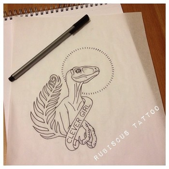letsgetsome-tattoo: by http://instagram.com/rubiscus_tattoo OMG, Jurrasic Park. And then that guy get
