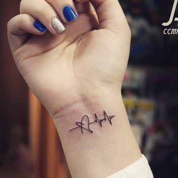 25 Heartbeat Tattoo Ideas for Caring People