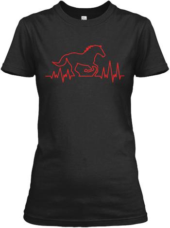 Horse Rider Heartbeat T-shirt!