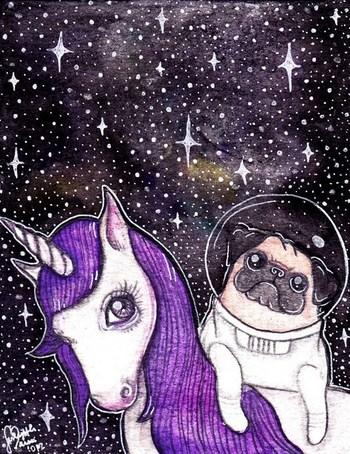 Pug + Unicorn = AWESOMENESS