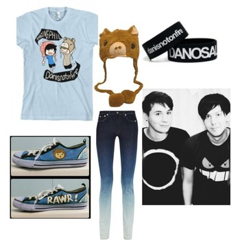 Amazingphil and Danisnotonfire outfit!, created by music-is-my-life-1019 on Polyvore