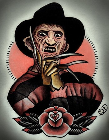 Kick Ass Tattoo Ideas: Horror Movies Tattoo Designs by Quyen Dinh