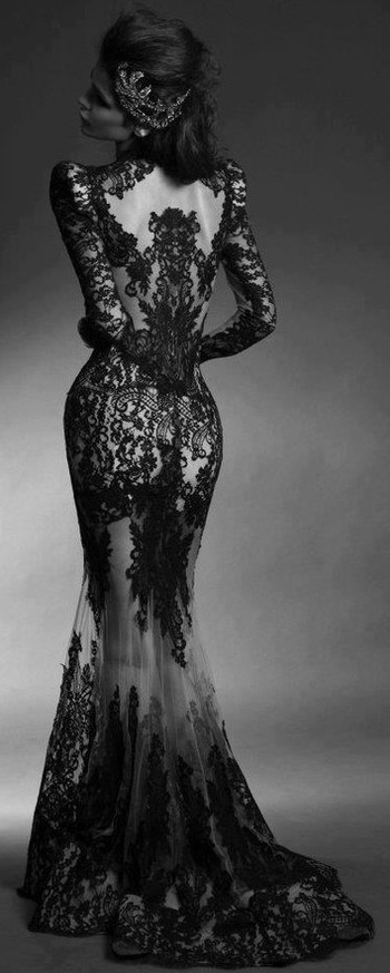 Dress - dress lace prom longsleevedress - Outfits Hunter