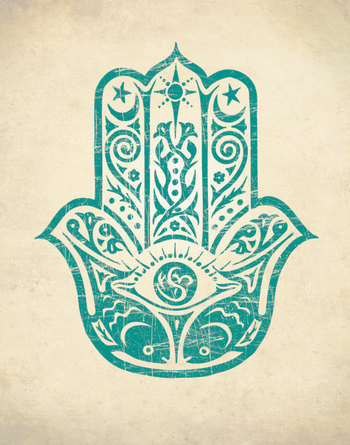 HAMSA HAND PRINT Art Print Home Decor by theNATIONALanthem