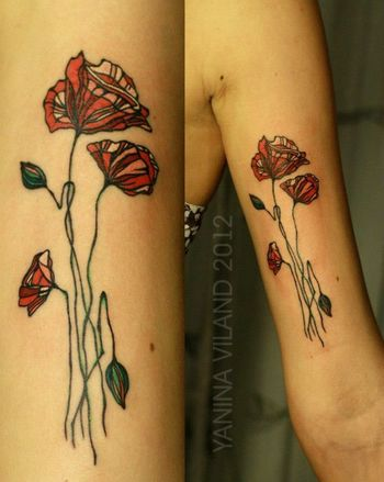 icelandic poppy tattoo - Google Search