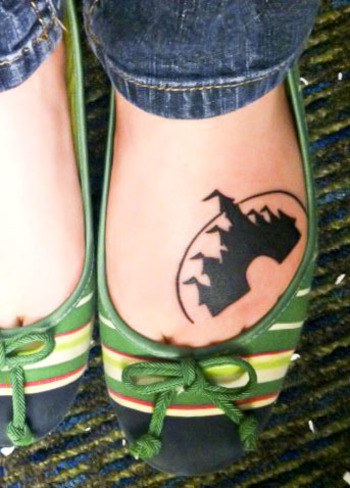 disney castle tattoo. so cute.