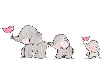 Elephants on Parade by ohhellodear on Etsy. Sweet...