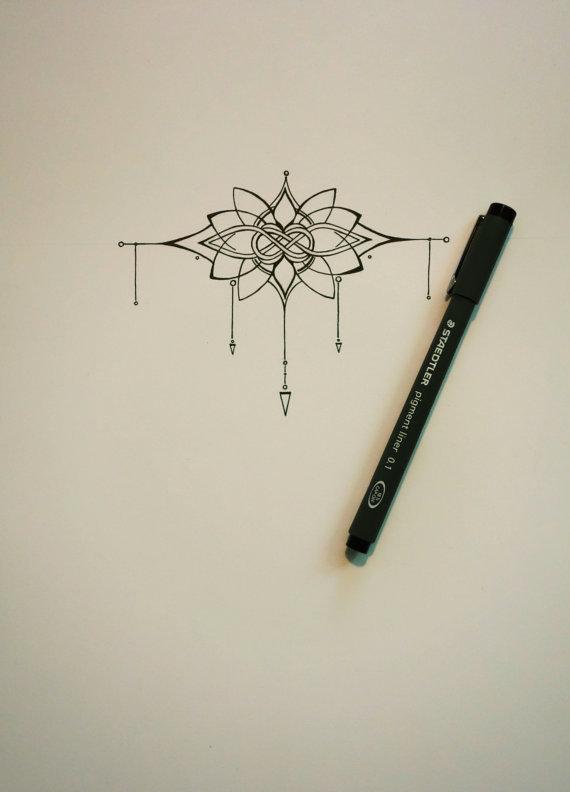 Knot and lotus tattoo original