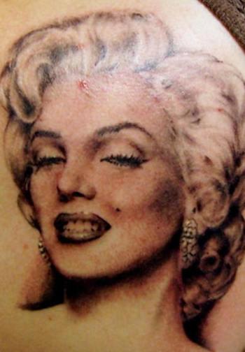 marilyn monroe portrait tattoo