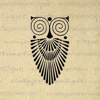 art deco owl - Google Search