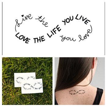 Infinity temporary tattoo Set of 2 by Tattify on Etsy, $5.00