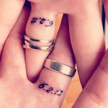 12 of the sweetest wedding tattoos