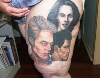 Twilight Tattoo ..... But on a chubby thigh! Blurgh! - Crazy as a Bag of Hammers