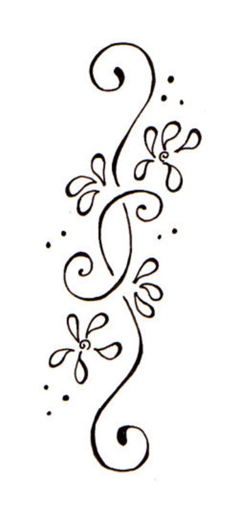 flower side tattoos